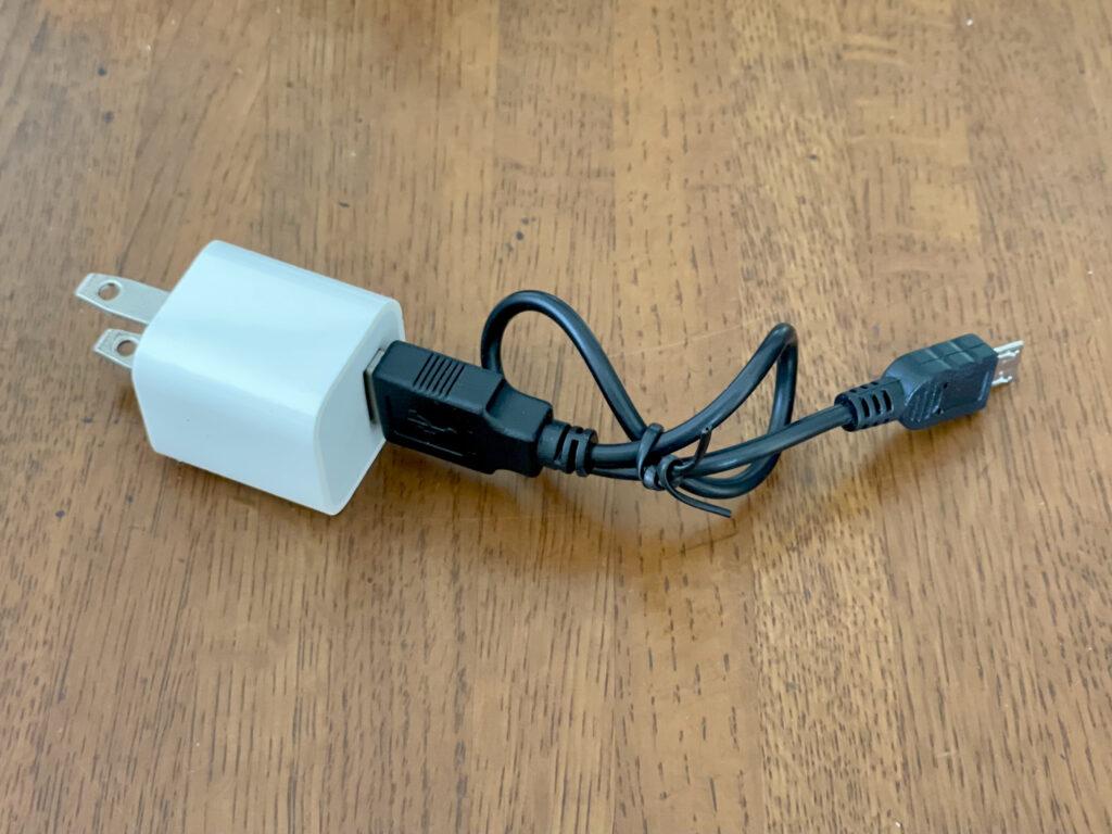ハイパーブリンカーズEX 充電ケーブルとアダプター