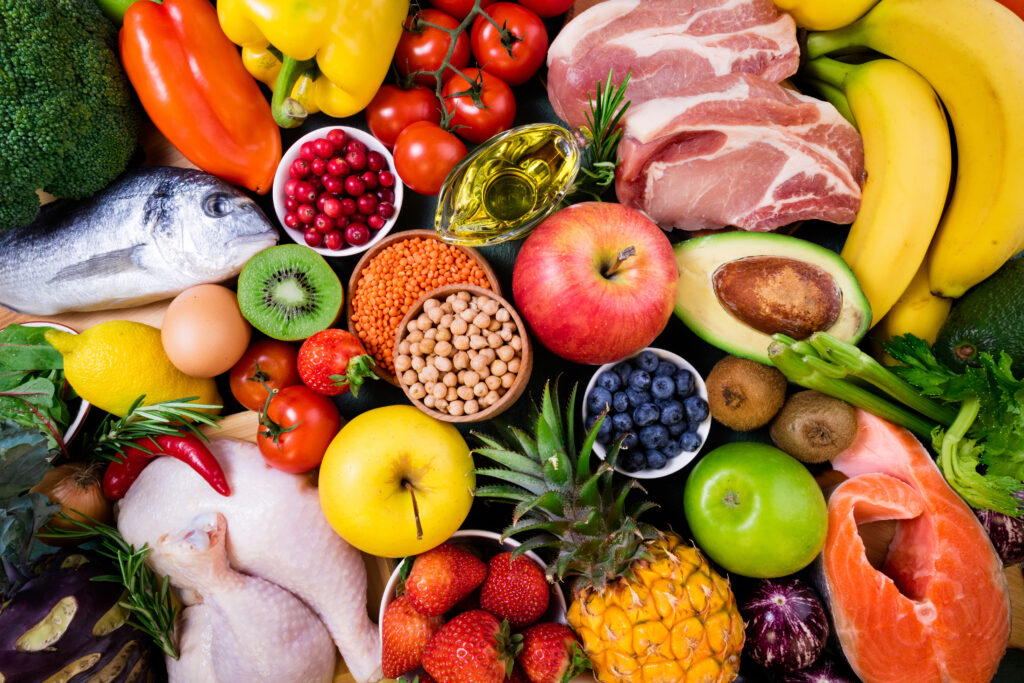 healthy fish meat and vegetables